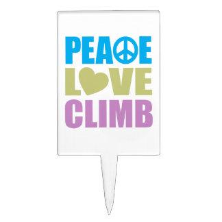 Peace Love Climb Cake Pick