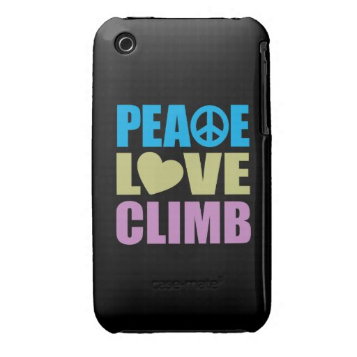 Peace Love Climb iPhone 3 Case