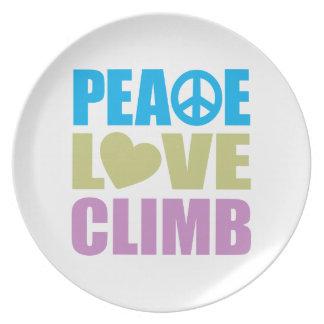 Peace Love Climb Melamine Plate