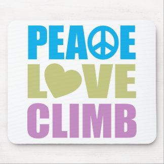 Peace Love Climb Mouse Pad