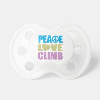 Peace Love Climb Baby Pacifier
