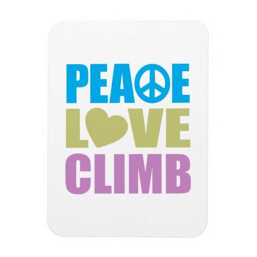 Peace Love Climb Rectangular Photo Magnet