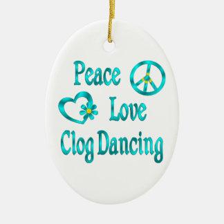 Peace Love Clog Dancing Christmas Ornament