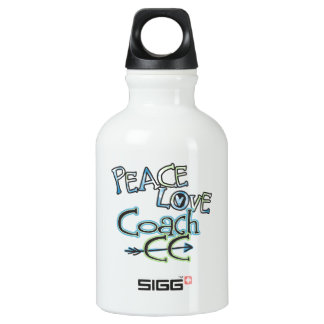 PEACE LOVE COACH CC - Cross Country Water Bottle