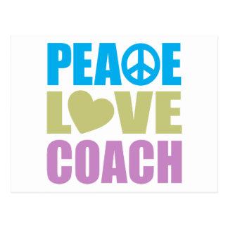 Peace Love Coach Postcard