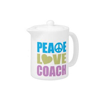 Peace Love Coach Teapot