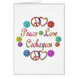PEACE LOVE COCKAPOOS CARD
