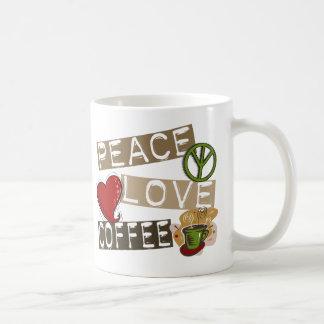 PEACE LOVE COFFEE 2 COFFEE MUGS