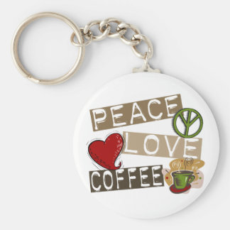 PEACE LOVE COFFEE 2 KEY CHAINS