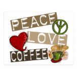 PEACE LOVE COFFEE 2 POSTCARD