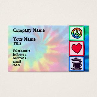 Peace, Love, Coffee Business Card