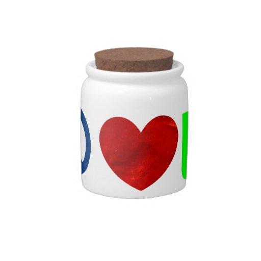 Peace, Love, Coffee Candy Dish