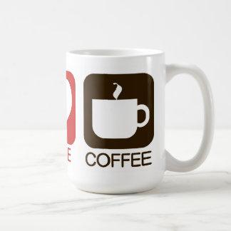 PEACE, LOVE, COFFEE COFFEE MUG