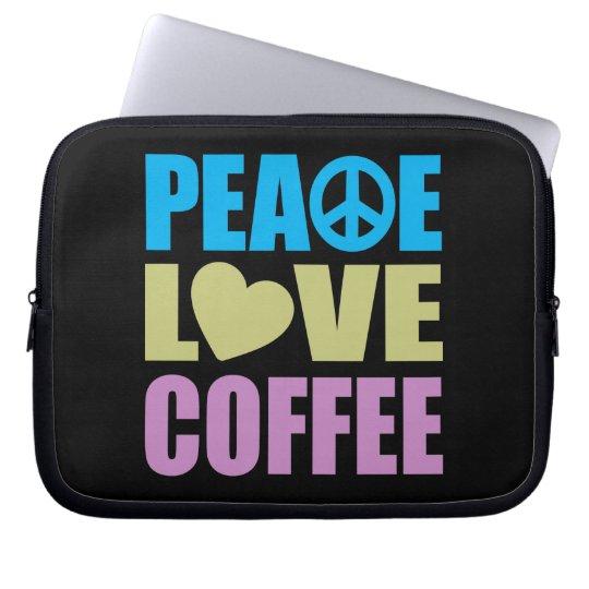 Peace Love Coffee Computer Sleeve