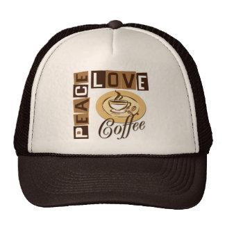 PEACE LOVE COFFEE TRUCKER HATS