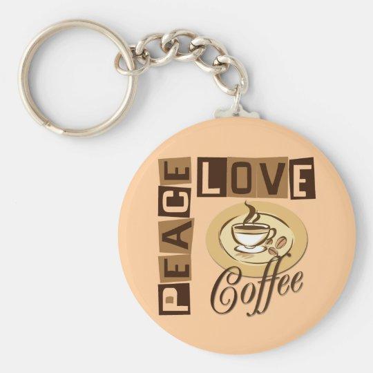 PEACE LOVE COFFEE KEYCHAIN