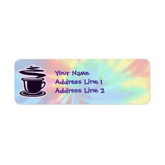 Peace, Love, Coffee Return Address Label