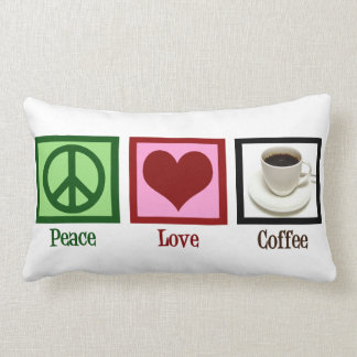 Peace Love Coffee Lumbar Pillow