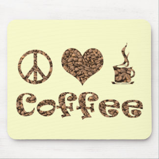 PEACE LOVE COFFEE MOUSE PADS
