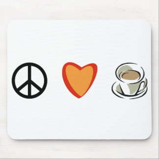 Peace Love Coffee Mouse Mats