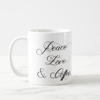 Peace Love & Coffee Mug