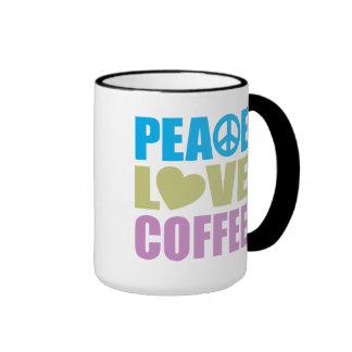 Peace Love Coffee Mugs