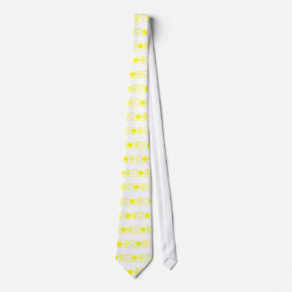 PEACE LOVE & COFFEE PICTURES YELLOW TIE