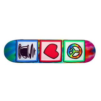 Peace, Love, Coffee Skate Board Deck