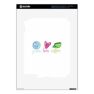 PEACE LOVE COFFEE SKINS FOR iPad 3