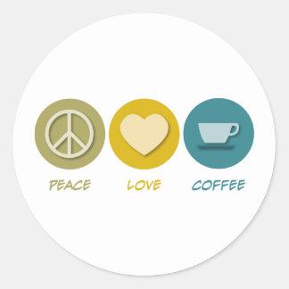 Peace Love Coffee Sticker