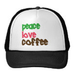 Peace Love Coffee Trucker Hat