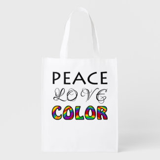 Peace Love Color for Colorists Grocery Bags