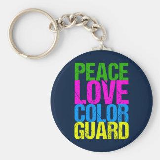 Peace Love Color Guard Keychain
