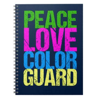 Peace Love Color Guard Notebook