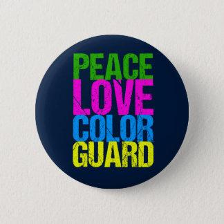 Peace Love Color Guard Pinback Button