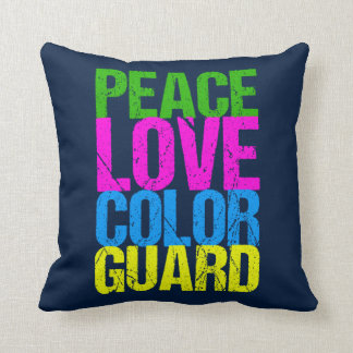 Peace Love Color Guard Throw Pillow