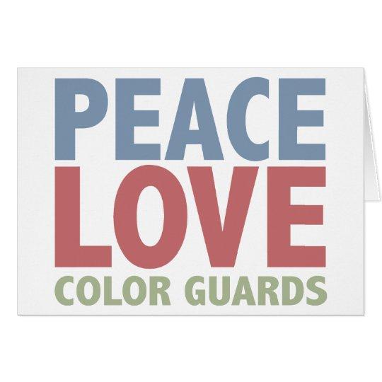 Peace Love Color Guards Card