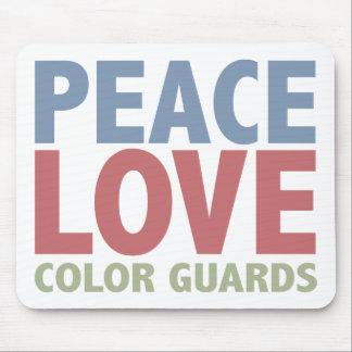 Peace Love Color Guards Mouse Pad