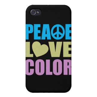 Peace Love Color Covers For iPhone 4