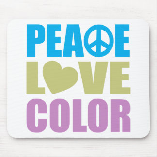 Peace Love Color Mouse Pad