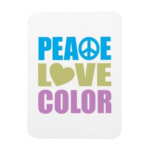 Peace Love Color Rectangular Photo Magnet