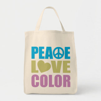 Peace Love Color Tote Bag