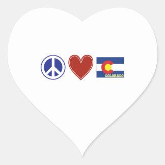 Peace Love Colorado Stickers