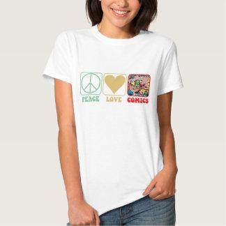 """Peace, Love, Comics"" Shirt"