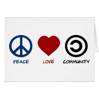Peace Love Community Card