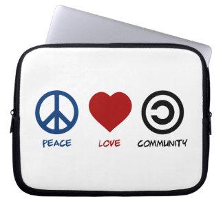 Peace Love Community Computer Sleeve