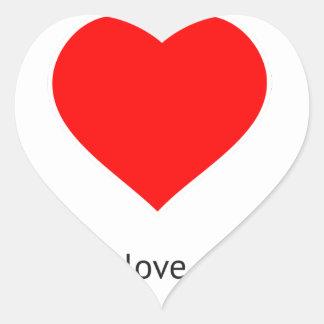 Peace Love Community Heart Sticker