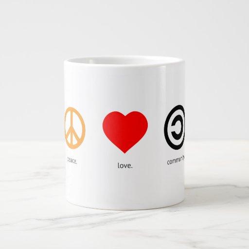 Peace, Love, Community 20 Oz Large Ceramic Coffee Mug