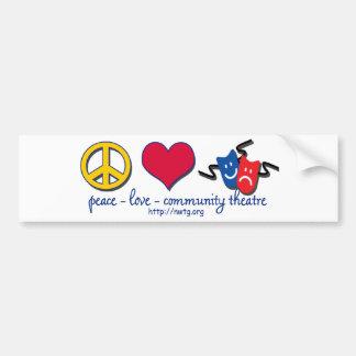 Peace Love Community Theatre Bumper Sticker