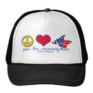 Peace Love Community Theatre Hat